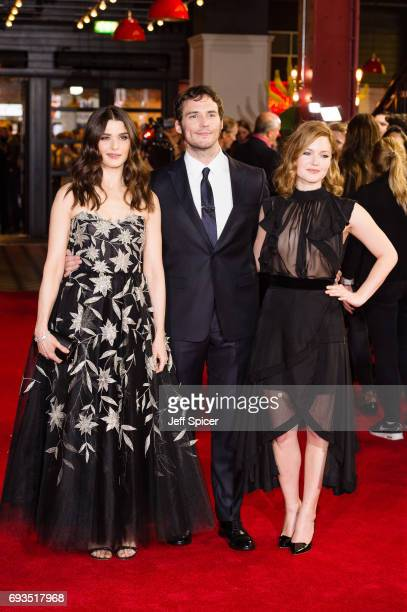 Rachel Weisz Sam Claflin and Holliday Grainger attend the World Premiere of 'My Cousin Rachel' at Picturehouse Central on June 7 2017 in London...