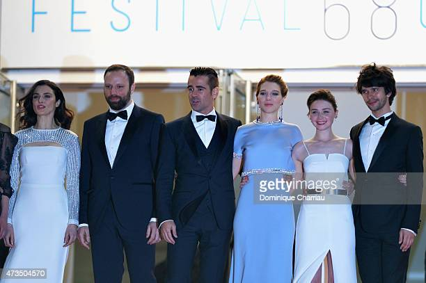 Rachel Weisz Yorgos Lanthimos Collin Farrel Lea Seydoux Jessica Barden and Ben Whishaw attend the 'Lobster' Premiere during the 68th annual Cannes...