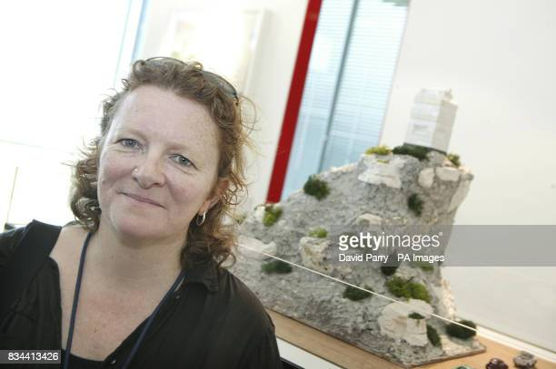Rachel Whiteread with her proposal for the Ebbsfleet Landmark at The Observatory Ebbsfleet Valley