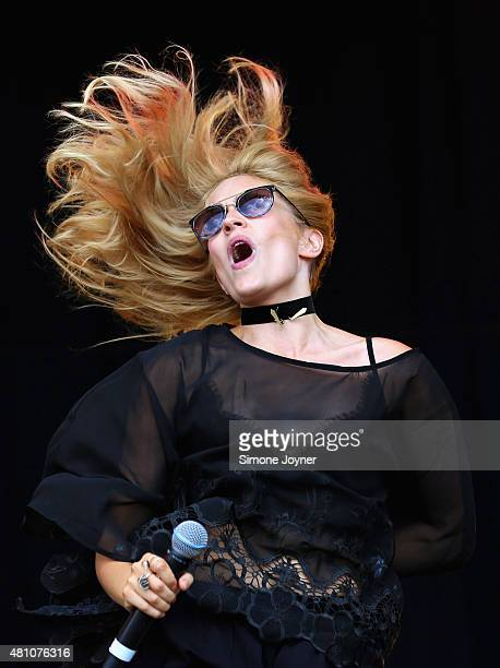 Rachel Wilkinson of Ivy and Gold performs live on the main stage during day one of Lovebox Festival 2015 at Victoria Park on July 17 2015 in London...
