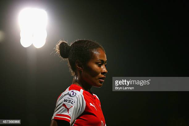 Rachel Yankey of Arsenal Ladies looks on during the FA WSL Continental Cup Final between Arsenal Ladies and Manchester City Ladies at Adams Park on...
