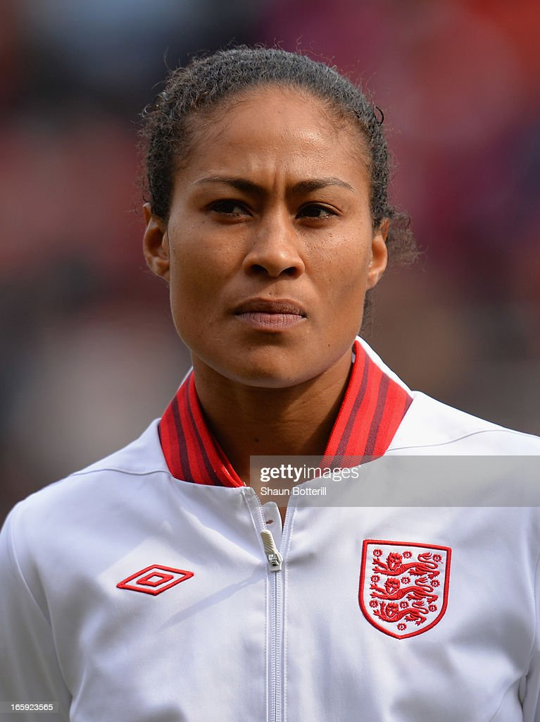 <a gi-track='captionPersonalityLinkClicked' href=/galleries/search?phrase=Rachel+Yankey&family=editorial&specificpeople=235431 ng-click='$event.stopPropagation()'>Rachel Yankey</a> of England before the Women's International Match between England Women and Canada Women at The New York Stadium on April 7, 2013 in Rotherham, England.