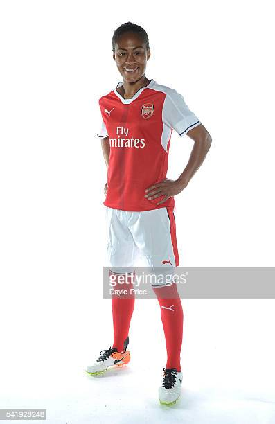 Rachel Yankey of the Arsenal Ladies during their photocall at London Colney on June 16 2016 in St Albans England