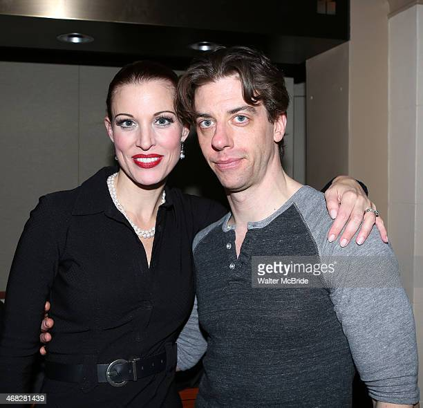 Rachel York and Christian Borle attend the closing night reception for the Encores production of 'Little Me' at the New York City Center on February...