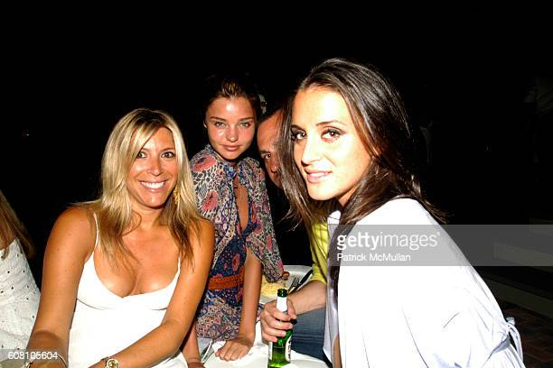 Rachel Zalis Miranda Kerr and Francesca Cecil attend Patrick McMullan Dave Zinczenko invite you to a Summer BBQ for Eric Kimberly Villency at 12...