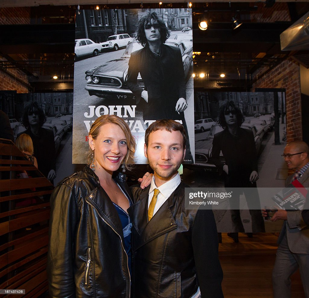 Rachel Znerold (L) and Tony Bravo of the San Francisco Chronicle attend the launch of the book 'Rock In Fashion' at John Varvatos on November 8, 2013 in San Francisco, California.
