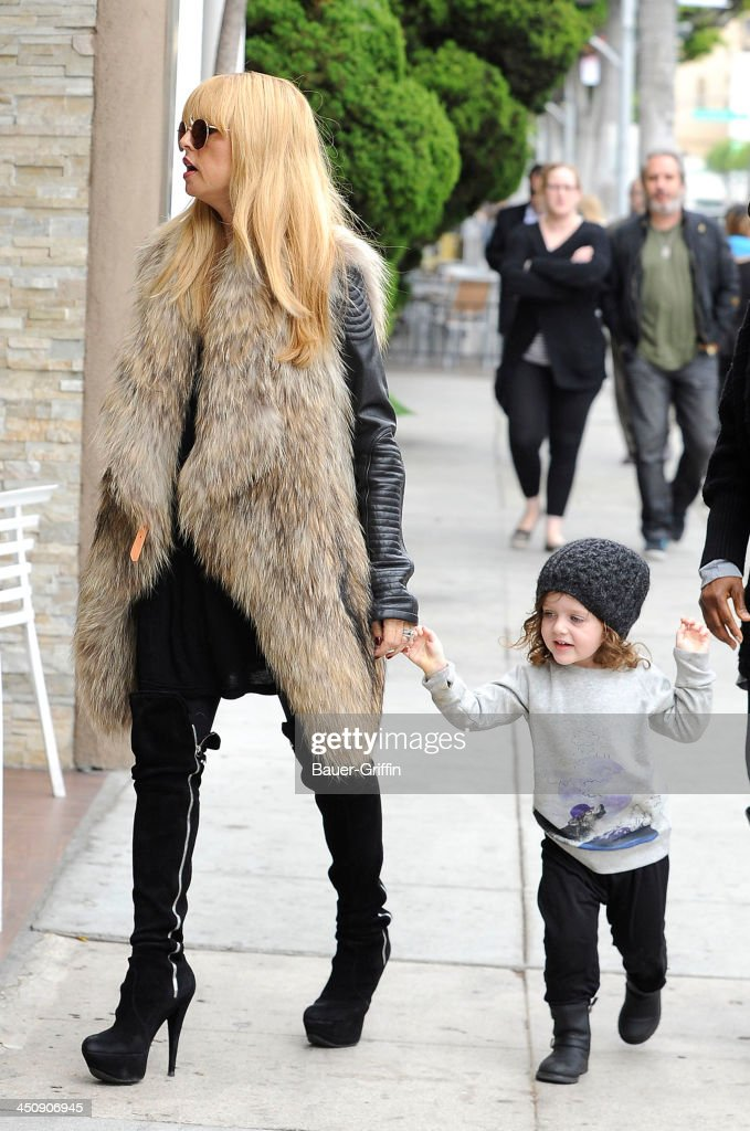 Rachel Zoe and her son, Skyler Berman are seen on November 20, 2013 in Los Angeles, California.