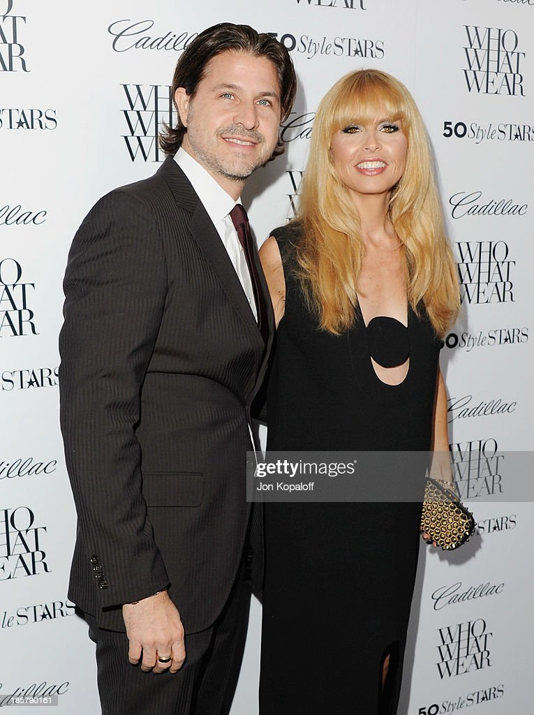 Rachel Zoe and husband Rodger Berman arrive at Who What Wear And Cadillac's 50 Most Fashionable Women Of 2013 at The London Hotel on October 24, 2013 in West Hollywood, California.