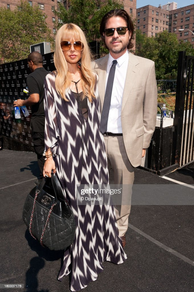 Rachel Zoe (L) and husband Rodger Berman attend Mercedes-Benz Fashion Week Spring 2014 at Lincoln Center for the Performing Arts on September 11, 2013 in New York City.