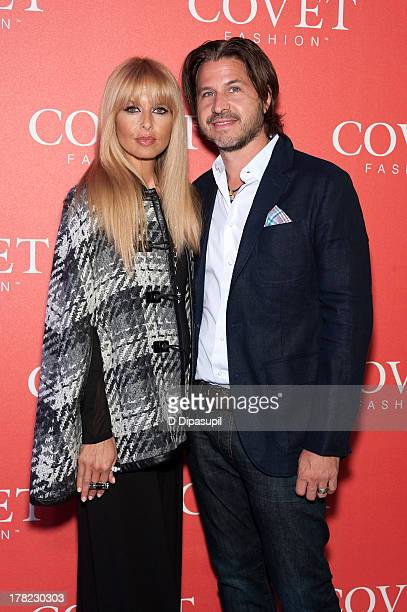 Rachel Zoe and husband Rodger Berman attend the COVET Fashion Launch Event at 82 Mercer on August 27 2013 in New York City