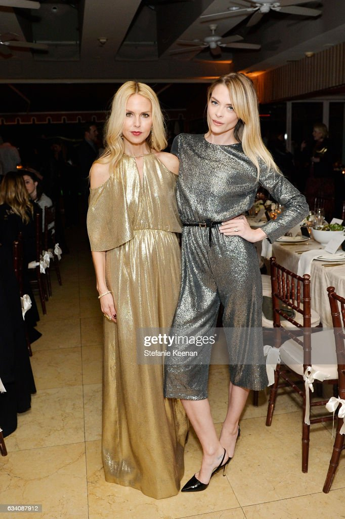 Rachel Zoe and Jaime King attend Rachel Zoe's Los Angeles Presentation at Sunset Tower Hotel on February 6, 2017 in West Hollywood, California.
