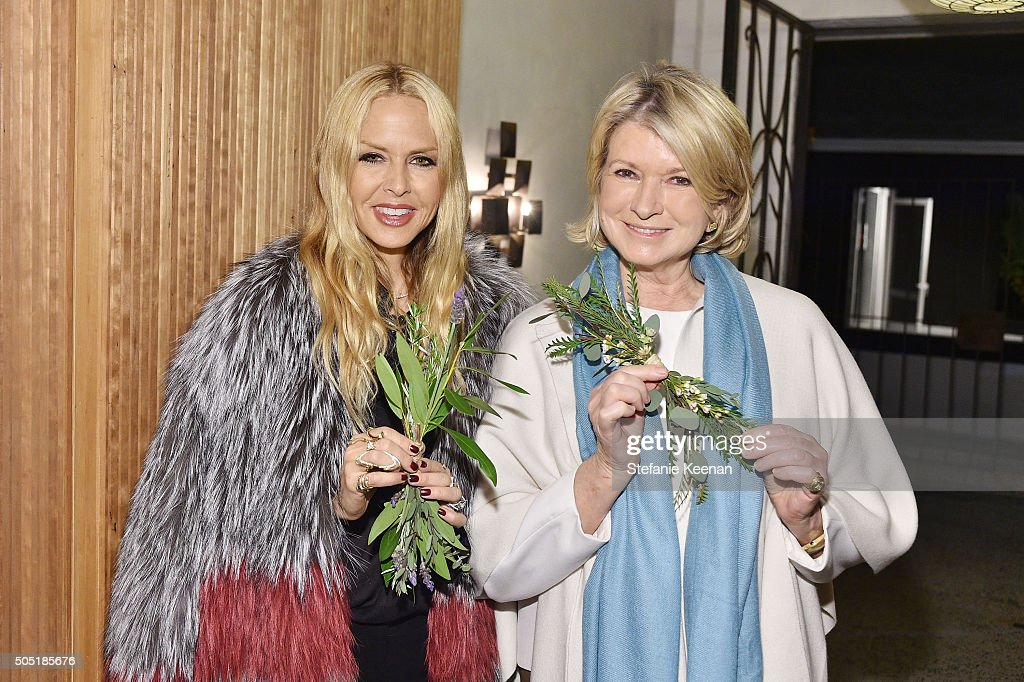 Rachel Zoe and Martha Stewart attend Jenni Kayne and Martha Stewart celebrate Martha Stewart Living's 25th Anniversary Issue at Jenni Kayne Boutique on January 15, 2016 in West Hollywood, California.