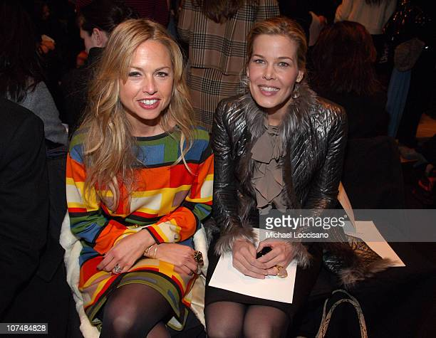 Rachel Zoe and Mary Alice Stephenson during MercedesBenz Fashion Week Fall 2007 Oscar de la Renta Front Row and Backstage at The Tent in New York...