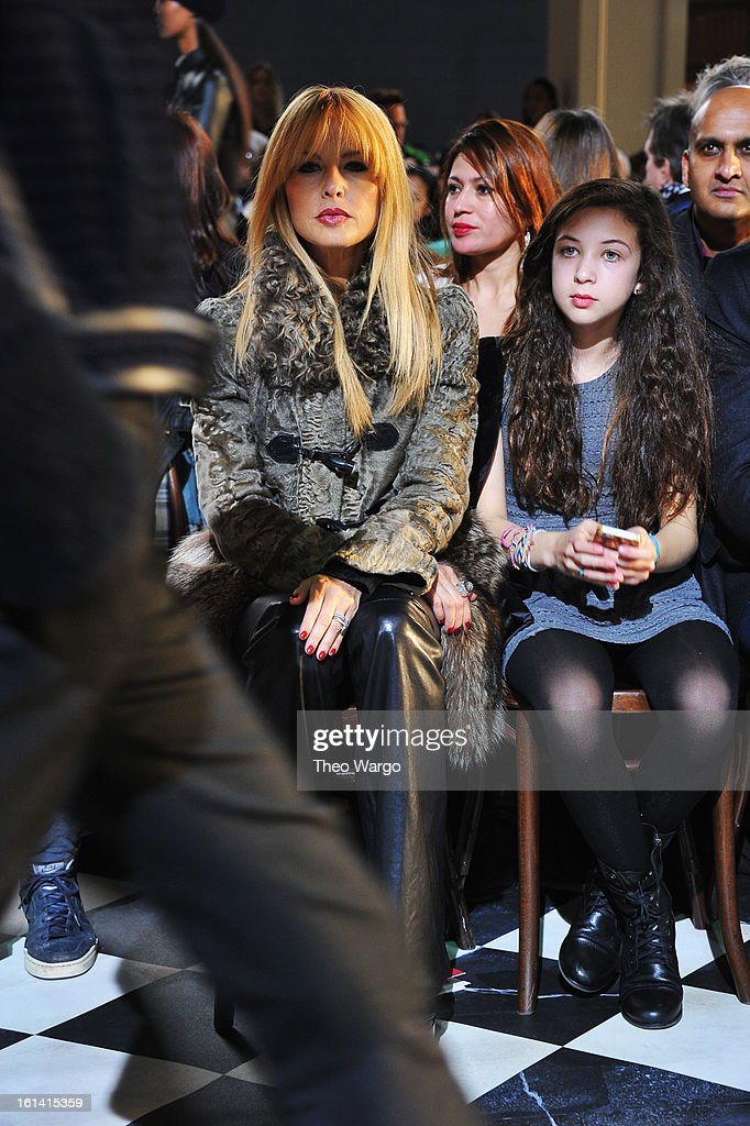 <a gi-track='captionPersonalityLinkClicked' href=/galleries/search?phrase=Rachel+Zoe+-+Stylist&family=editorial&specificpeople=546501 ng-click='$event.stopPropagation()'>Rachel Zoe</a> and niece Sophie Glassman attend the Tommy Hilfiger Fall 2013 Women's Collection fashion show during Mercedes-Benz Fashion Week at the Park Avenue Armory on February 10, 2013 in New York City.