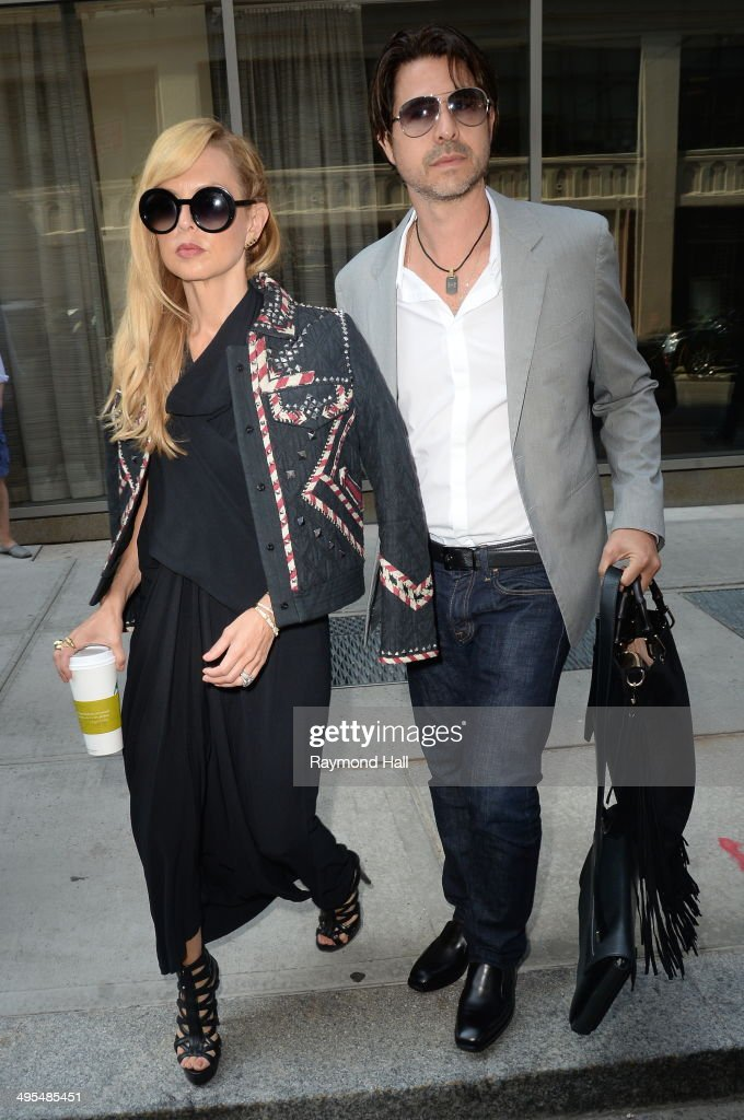Rachel Zoe and <a gi-track='captionPersonalityLinkClicked' href=/galleries/search?phrase=Rodger+Berman&family=editorial&specificpeople=4104059 ng-click='$event.stopPropagation()'>Rodger Berman</a> are seen in Soho June 3, 2014 in New York City.