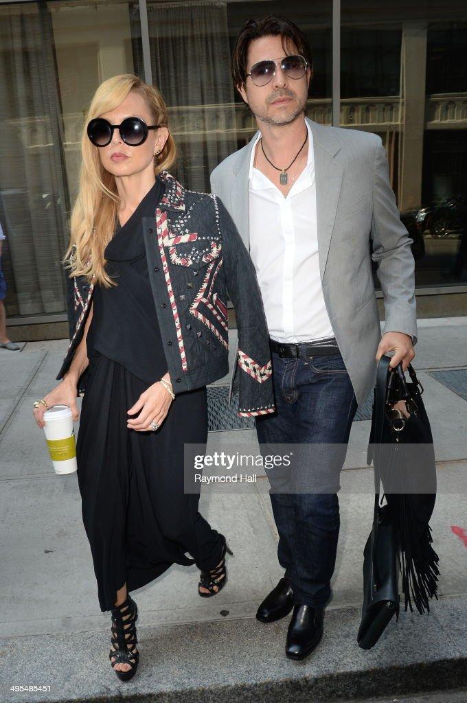 Rachel Zoe and Rodger Berman are seen in Soho June 3, 2014 in New York City.