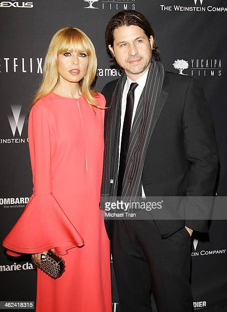 Rachel Zoe and Rodger Berman arrive at The Weinstein Company and NetFlix 2014 Golden Globe Awards after party held on January 12 2014 in Beverly...