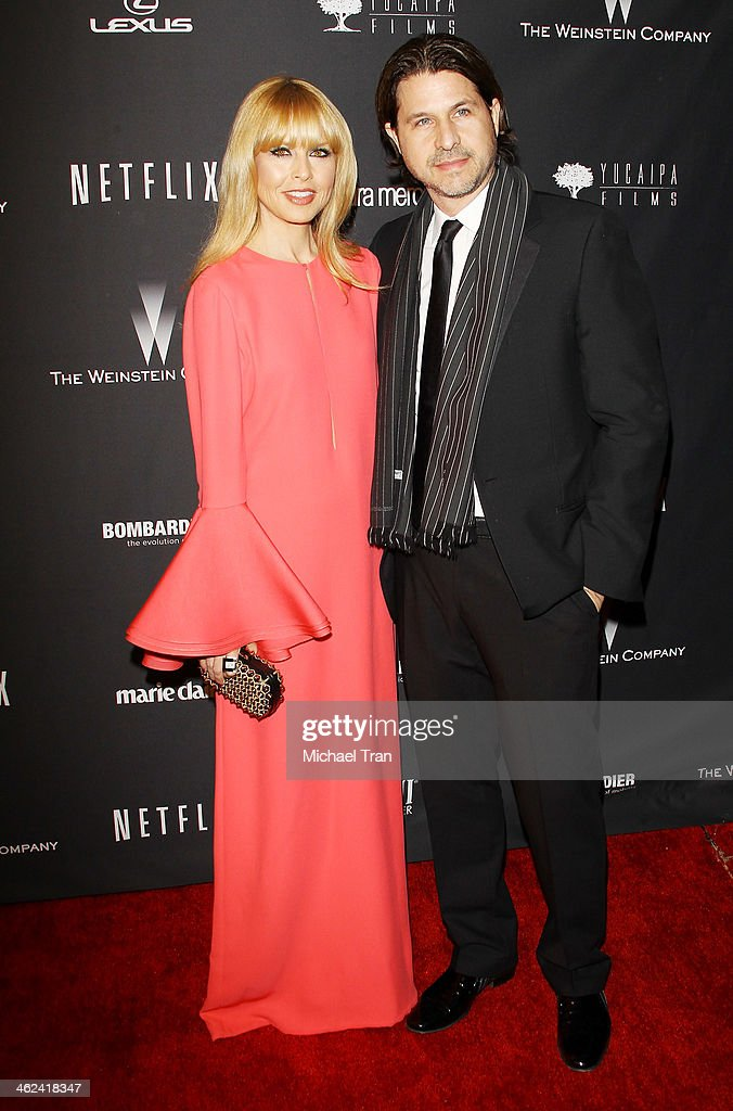 Rachel Zoe (L) and Rodger Berman arrive at The Weinstein Company and NetFlix 2014 Golden Globe Awards after party held on January 12, 2014 in Beverly Hills, California.