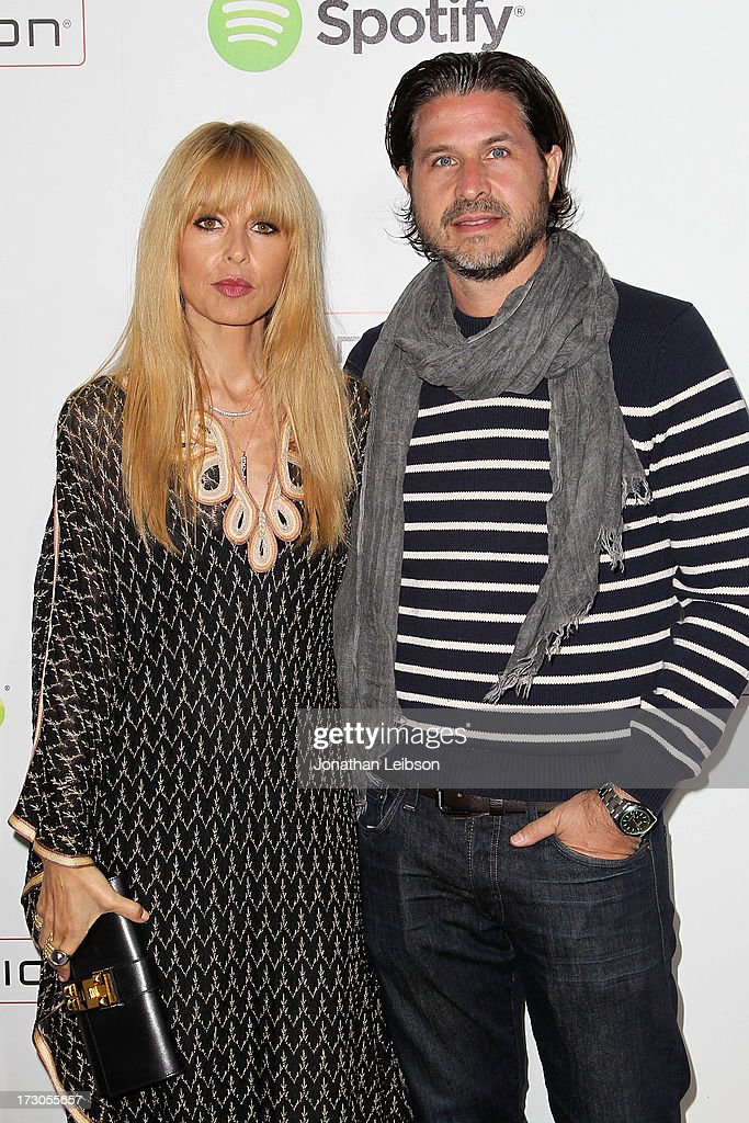 Rachel Zoe and <a gi-track='captionPersonalityLinkClicked' href=/galleries/search?phrase=Rodger+Berman&family=editorial&specificpeople=4104059 ng-click='$event.stopPropagation()'>Rodger Berman</a> attend the Guy Oseary's July 4th event in Malibu presented by Spotify and Live Nation with DeLeon and VitaCoco at Nobu Malibu on July 4, 2013 in Malibu, California.