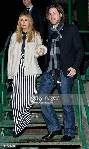 Rachel Zoe and Rodger Berman attend the Marc Jacobs Fall 2013 MercedesBenz Fashion Show at NY State Armory on February 14 2013 in New York City