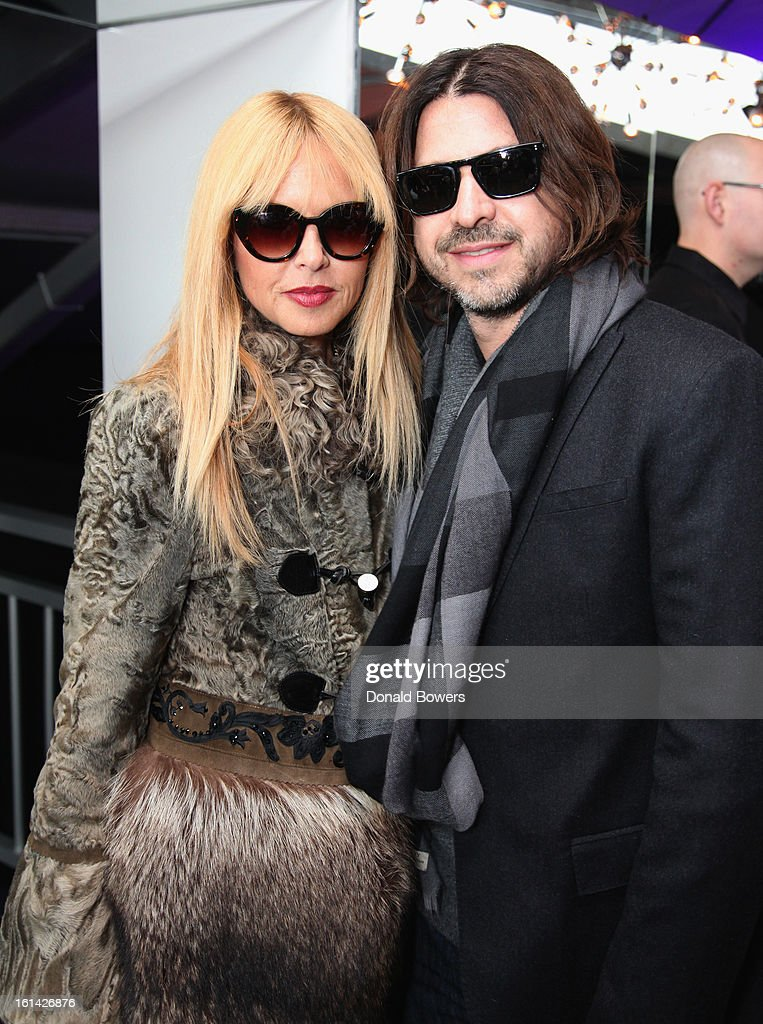 Rachel Zoe and Rodger Berman visit the Samsung Galaxy Lounge at Mercedes-Benz Fashion Week Fall 2013 Collections at Lincoln Center on February 10, 2013 in New York City.