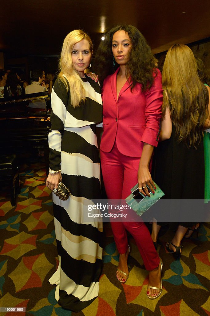 Rachel Zoe (L) and Solange attends the Gucci beauty launch event hosted by Frida Giannini on June 4, 2014 in New York City.