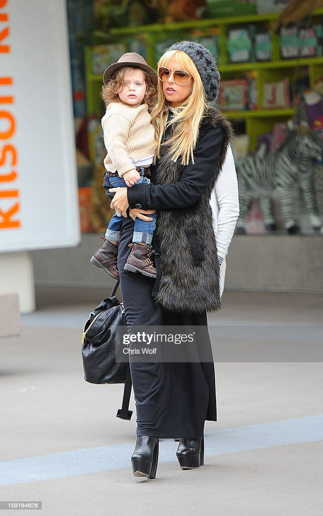 <a gi-track='captionPersonalityLinkClicked' href=/galleries/search?phrase=Rachel+Zoe+-+Stylist&family=editorial&specificpeople=546501 ng-click='$event.stopPropagation()'>Rachel Zoe</a> and son Skyler are seen on January 9, 2013 in Los Angeles, California.