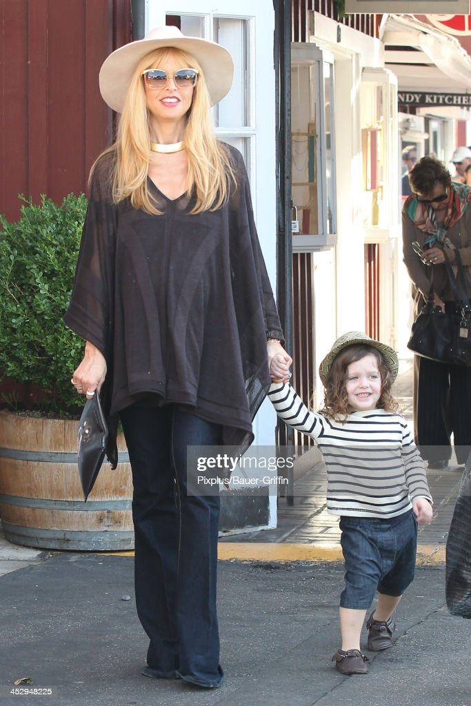 Rachel Zoe and son, Skyler Berman are seen on December 01, 2013 in Los Angeles, California.