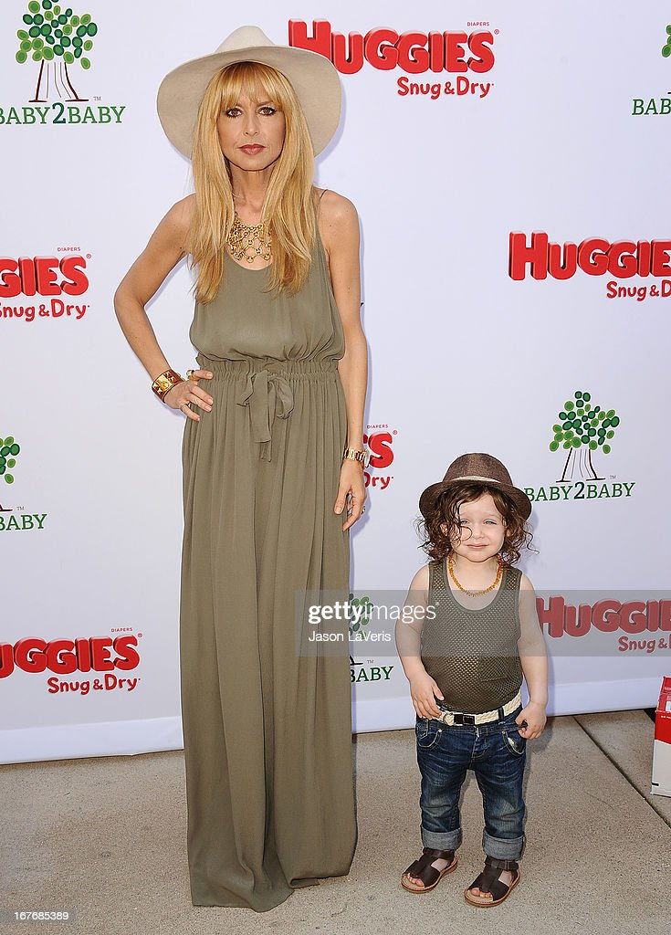 Rachel Zoe and son Skyler Berman attend the Baby2Baby Mother's Day garden party on April 27, 2013 in Los Angeles, California.
