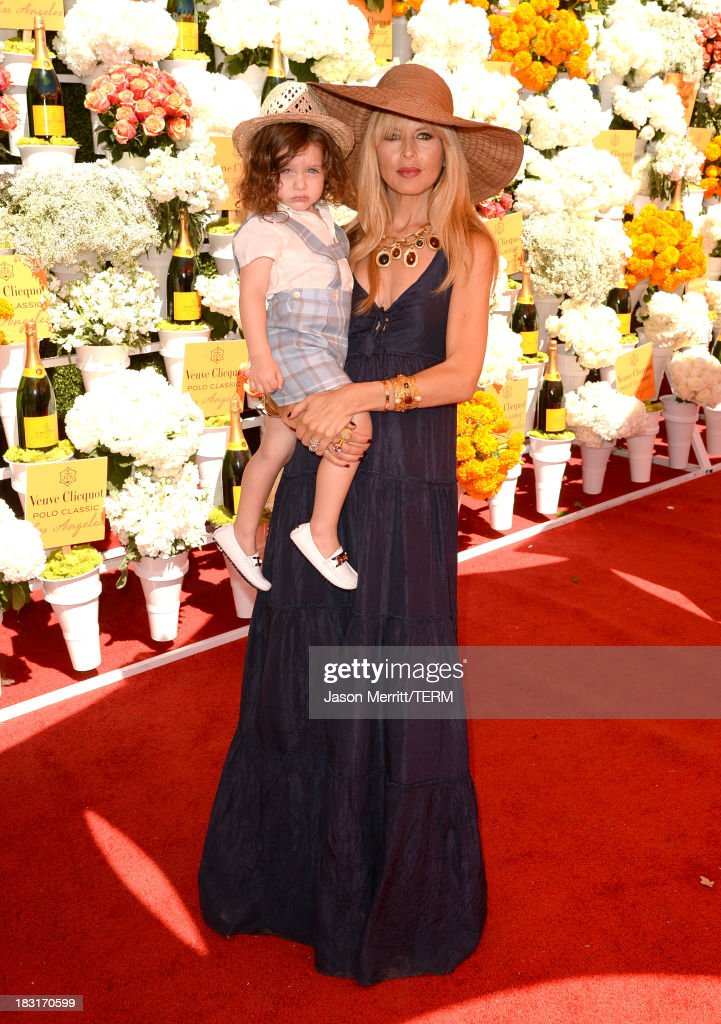 Rachel Zoe (R) and son Skyler Morrison Berman attend The Fourth-Annual Veuve Clicquot Polo Classic, Los Angeles at Will Rogers State Historic Park on October 5, 2013 in Pacific Palisades, California.