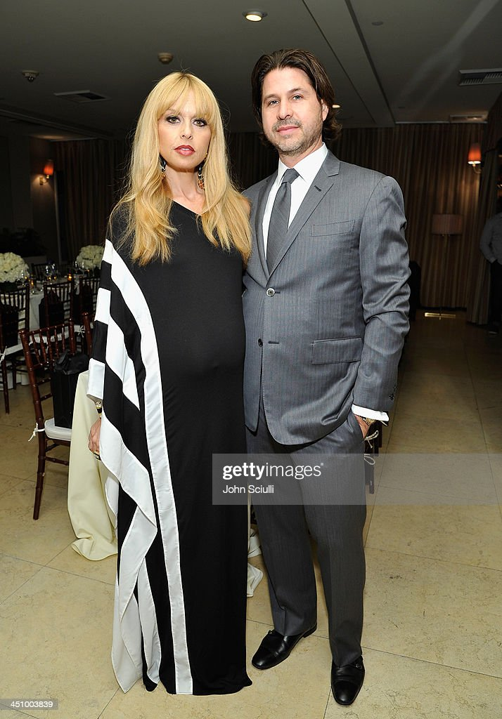 Rachel Zoe and Zoe Media Group CEO <a gi-track='captionPersonalityLinkClicked' href=/galleries/search?phrase=Rodger+Berman&family=editorial&specificpeople=4104059 ng-click='$event.stopPropagation()'>Rodger Berman</a> attend the relaunch of 'The Zoe Report' Hosted by FIJI Water at the Sunset Tower Hotel on November 20, 2013 in Los Angeles, California.