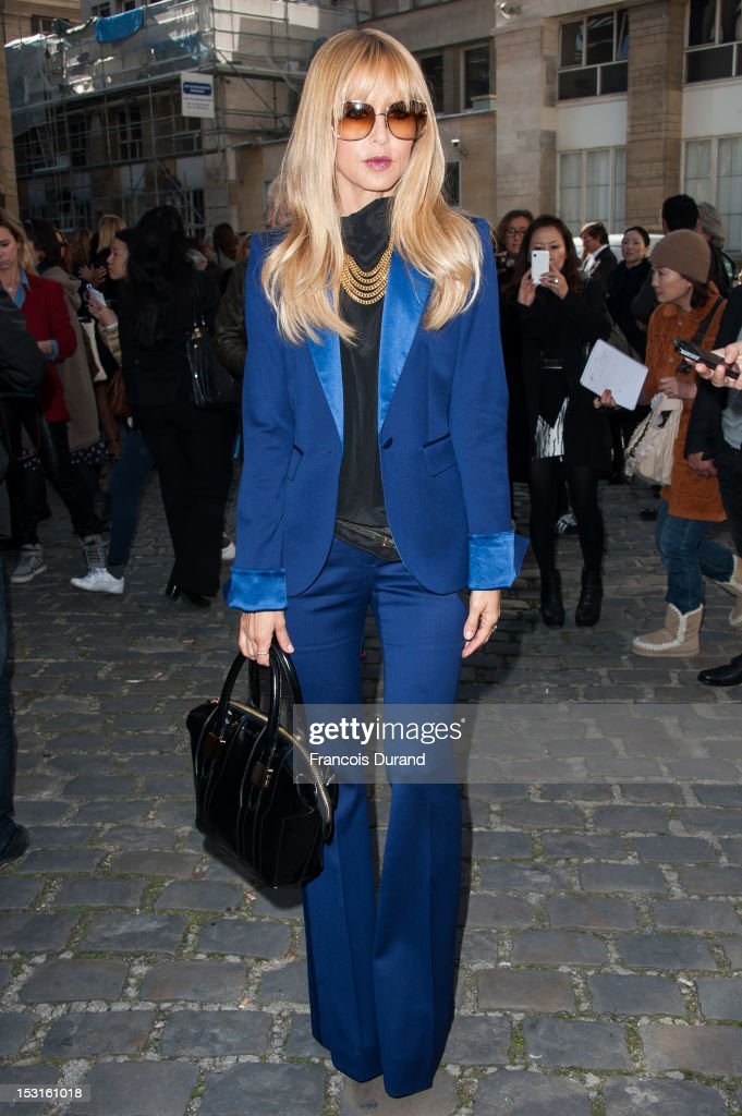 Rachel Zoe arrives at the Giambattista Valli Spring / Summer 2013 show as part of Paris Fashion Week on October 1, 2012 in Paris, France.