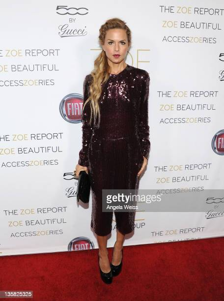Rachel Zoe arrives at the ZOE Media Group launch party at The Sayers Club on December 14 2011 in Hollywood California