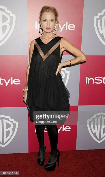 Rachel Zoe arrives sat the 12th Annual Warner Bros and Instyle PostGolden Globe Party at the Beverly Hilton Hotel on January 16 2011 in Beverly Hills...