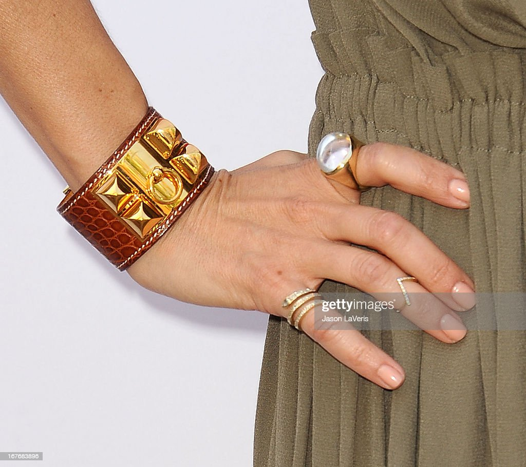 Rachel Zoe (jewelry detail) attends the Baby2Baby Mother's Day garden party on April 27, 2013 in Los Angeles, California.