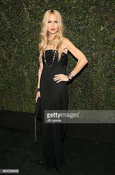 Rachel Zoe attends the Chanel And Charles Finch PreOscar Dinner at Madeo Restaurant on February 21 2015 in West Hollywood California