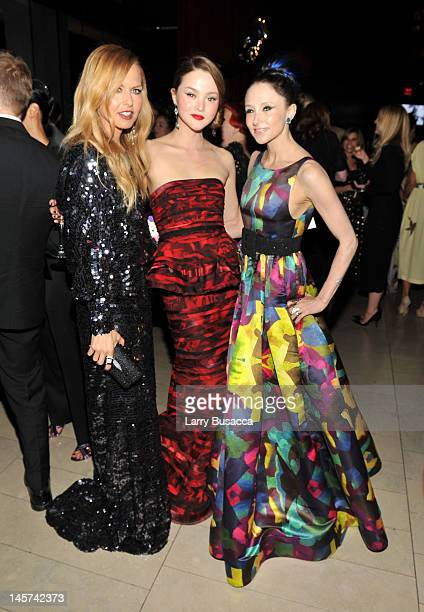 Rachel Zoe Devon Aoki and Stacey Bendet attend the 2012 CFDA Fashion Awards at Alice Tully Hall on June 4 2012 in New York City
