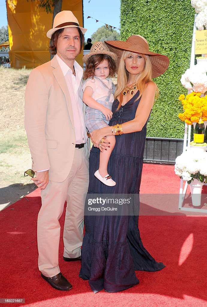 Rachel Zoe, husband Rodger Berman and son Skyler Morrison Berman arrive at the Veuve Clicquot Polo Classic at Will Rogers State Historic Park on October 5, 2013 in Pacific Palisades, California.
