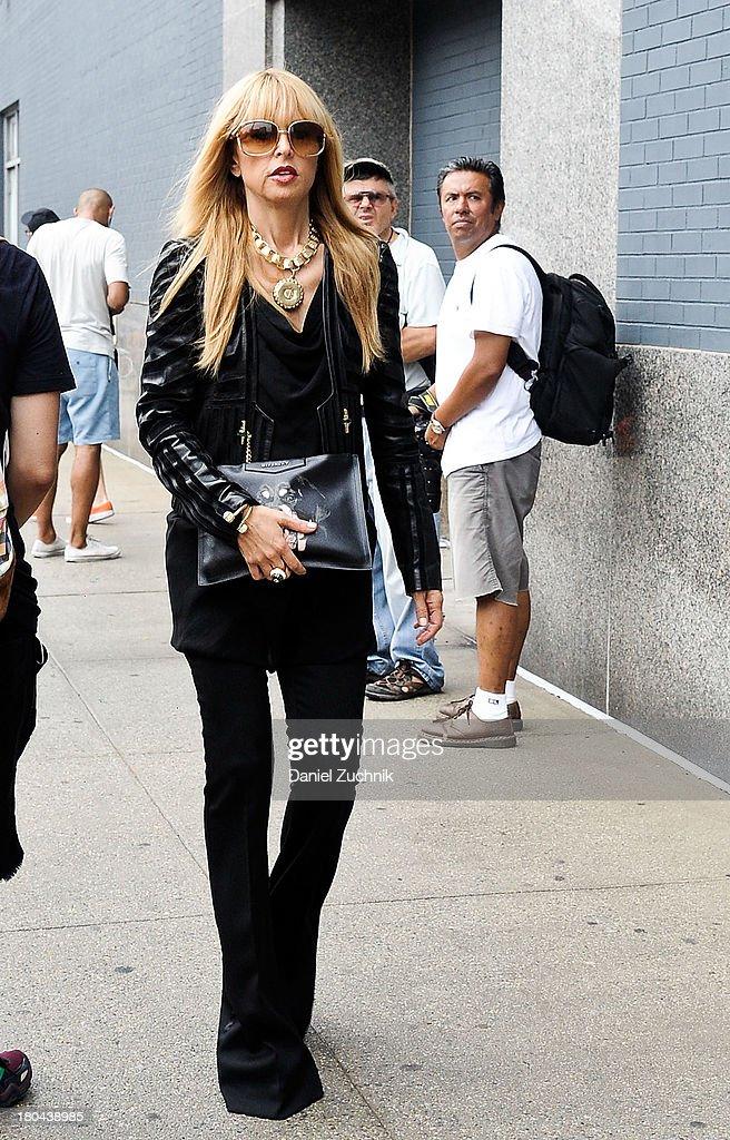 Rachel Zoe is seen outside the Calvin Klein show on September 12, 2013 in New York City.