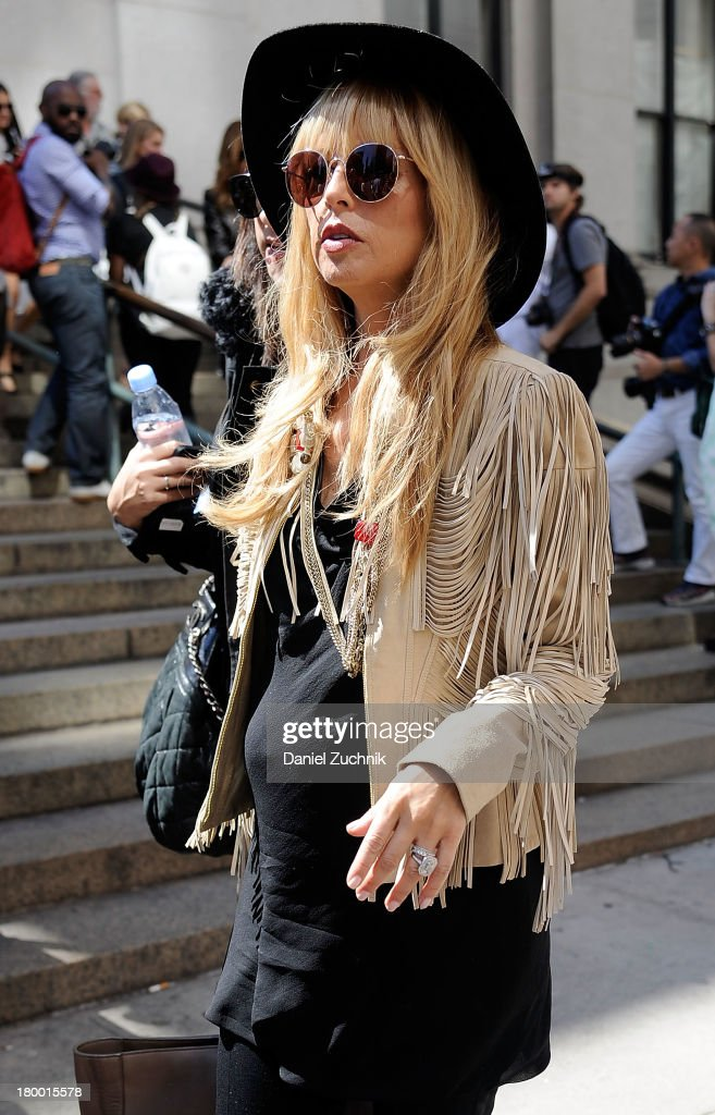 Rachel Zoe is seen outside the Prabal Gurung show on September 7, 2013 in New York City.