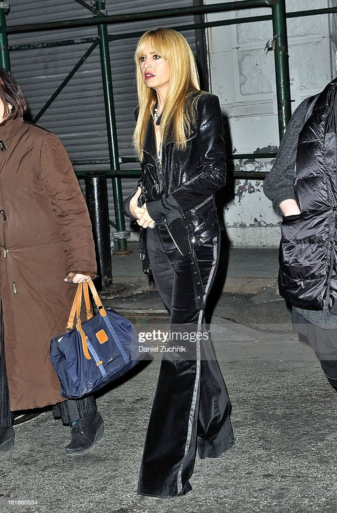 Rachel Zoe seen leaving the Proenza Schouler show on February 13, 2013 in New York City.