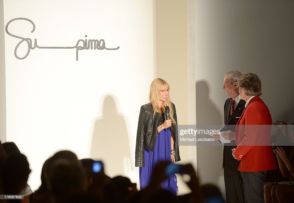 Rachel Zoe, Supima President Jesse Curlee and Vice President of Marketing Buxton Midyette attends the Supima Spring 2014 fashion show during Mercedes-Benz Fashion Week at The Studio at Lincoln Center on September 5, 2013 in New York City.