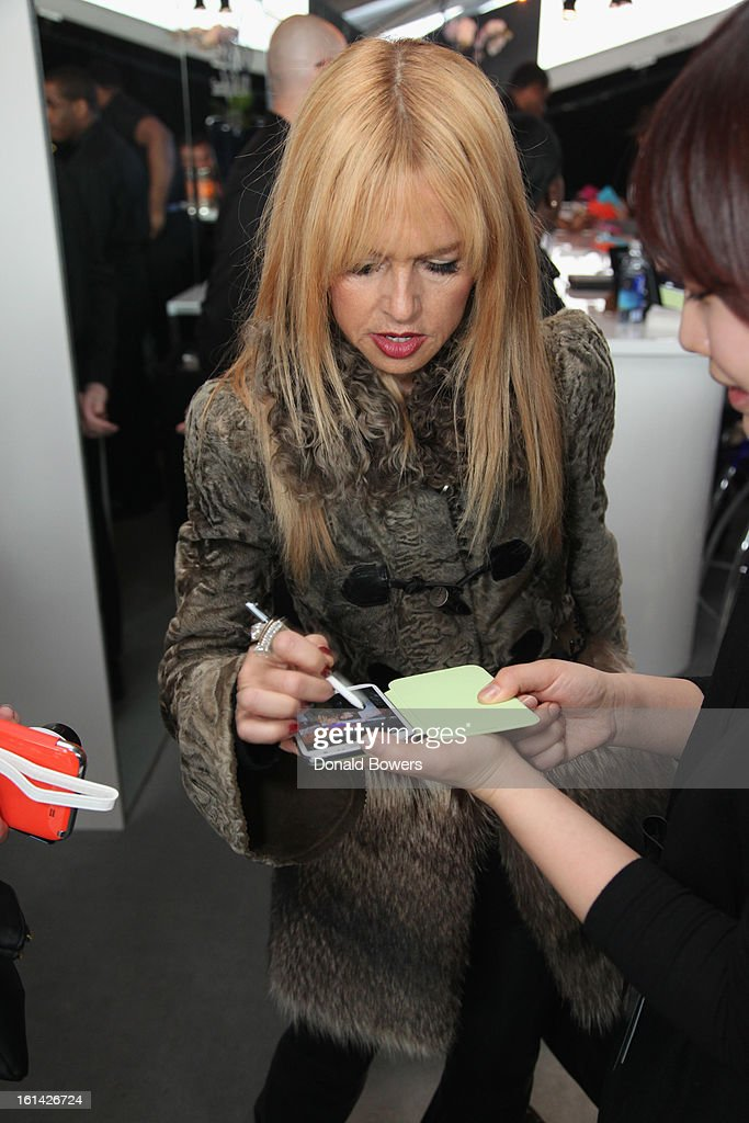 <a gi-track='captionPersonalityLinkClicked' href=/galleries/search?phrase=Rachel+Zoe+-+Stylist&family=editorial&specificpeople=546501 ng-click='$event.stopPropagation()'>Rachel Zoe</a> Visits The Samsung Galaxy Lounge at Mercedes-Benz Fashion Week Fall 2013 Collections at Lincoln Center on February 10, 2013 in New York City.