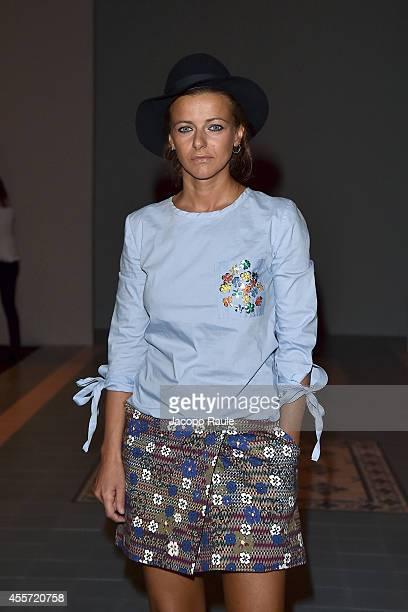 Rachele Bastreghi attends Kristina Ti during Milan Fashion Week Womenswear Spring/Summer 2015 on September 19 2014 in Milan Italy