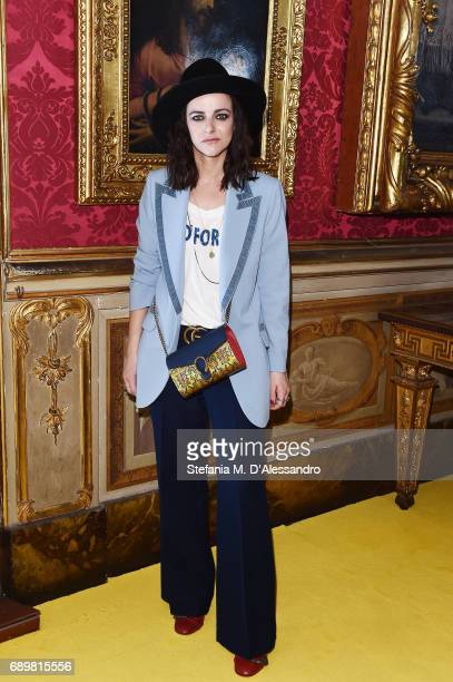 Rachele Bastreghi of 'Baustelle' attends the Gucci Cruise 2018 fashion show at Palazzo Pitti on May 29 2017 in Florence Italy
