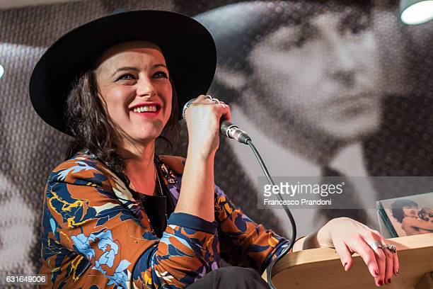 Rachele Bastreghi of Baustelle Meet The Audience at La Feltrinelli on January 13 2017 in Milan Italy