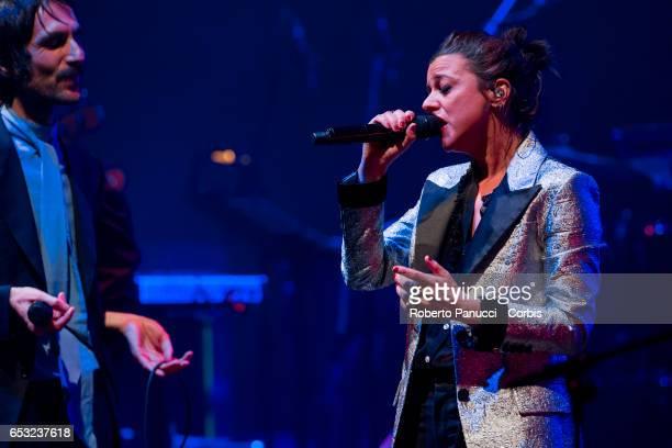 Rachele Bastreghi of the Italian Indie Rock group Baustelle performs in concert at Auditorium Parco della Musica on March 13 2017 in Rome Italy