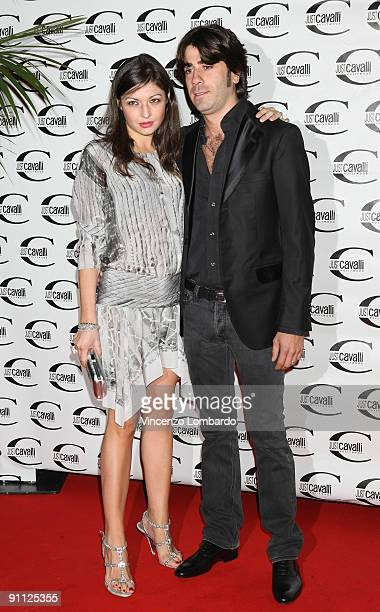 Rachele Cavalli and Joseph Iacovello attend the Just Cavalli Hollywood Opening Party as part of the Milan Womenswear Fashion Week Spring/Summer 2010...