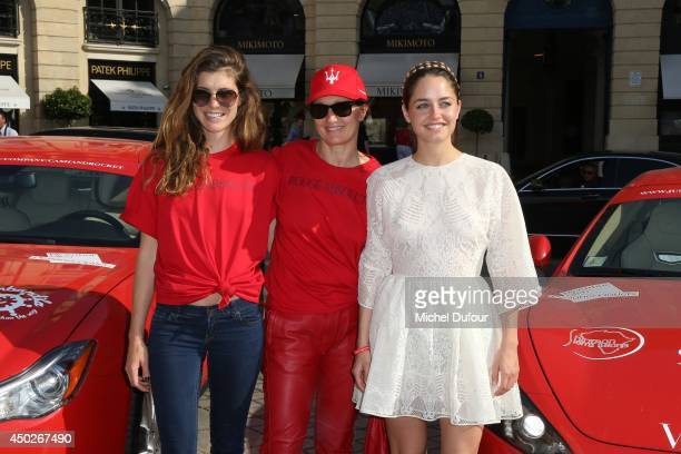 Rachele Reggini and her mother Maria Grazia Chiuri and Matilde Gioli attend 'Cash Rocket' On Tour At Place Vendome In Paris at Place Vendome on June...