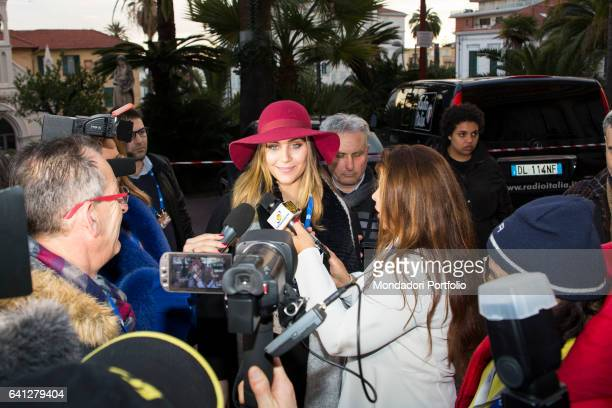 Rachele Risaliti model and Miss Italia 2016 winner at 67° Sanremo Music Festival Sanremo February 7 2017